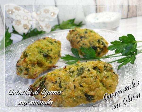 quenelles de légumes amandes sans gluten