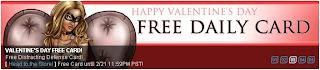 Banner for free Valentine's Day card at Superhero City