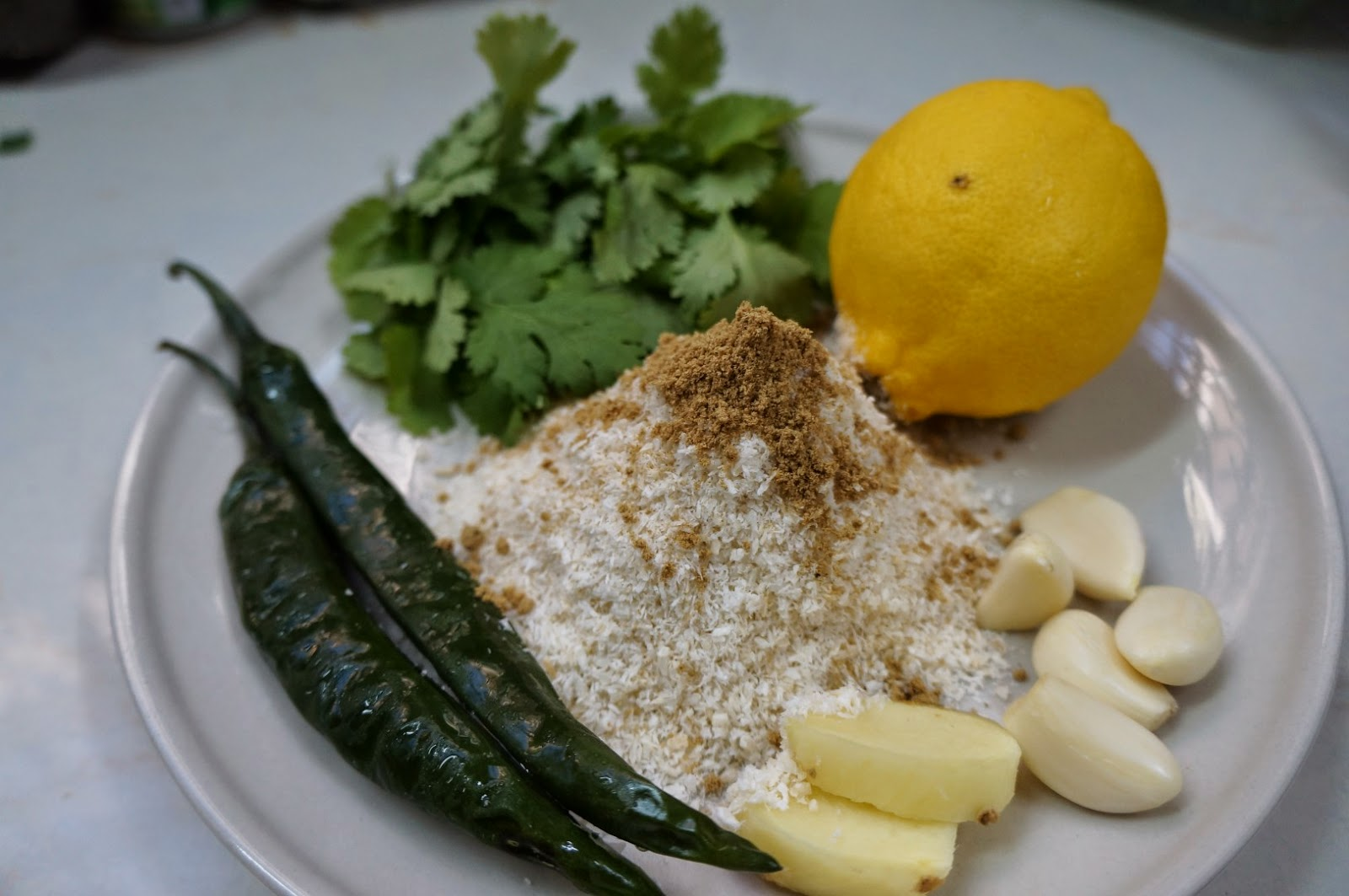 Ingredients for Coconut and Coriander Fish