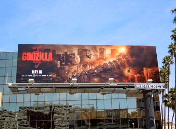 Godzilla movie tail billboard