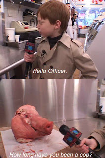 cop pig head, hello officer how long have you been a cop