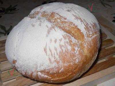 Pan con masa madre casera.
