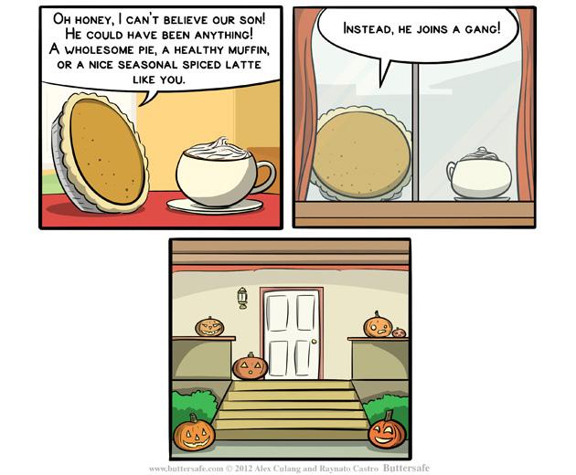 halloween, jack o' lanter, pumpkin life choices, cartoon