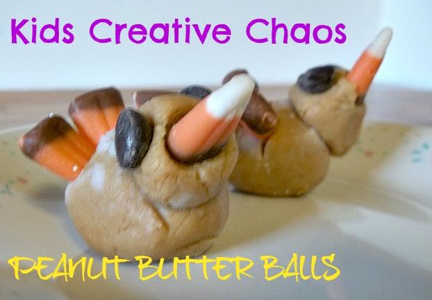 Peanut Butter Edible Turkeys Recipe Peanut Butter Balls Kids