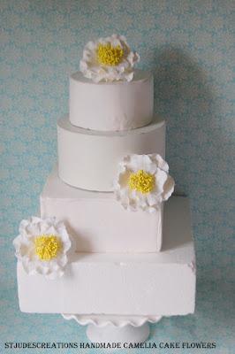 wedding ckae camelias