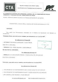 Remitimos informe al Comité de Empresa sobre las plazas vacantes, dotadas o no, en el Sistema de Ex