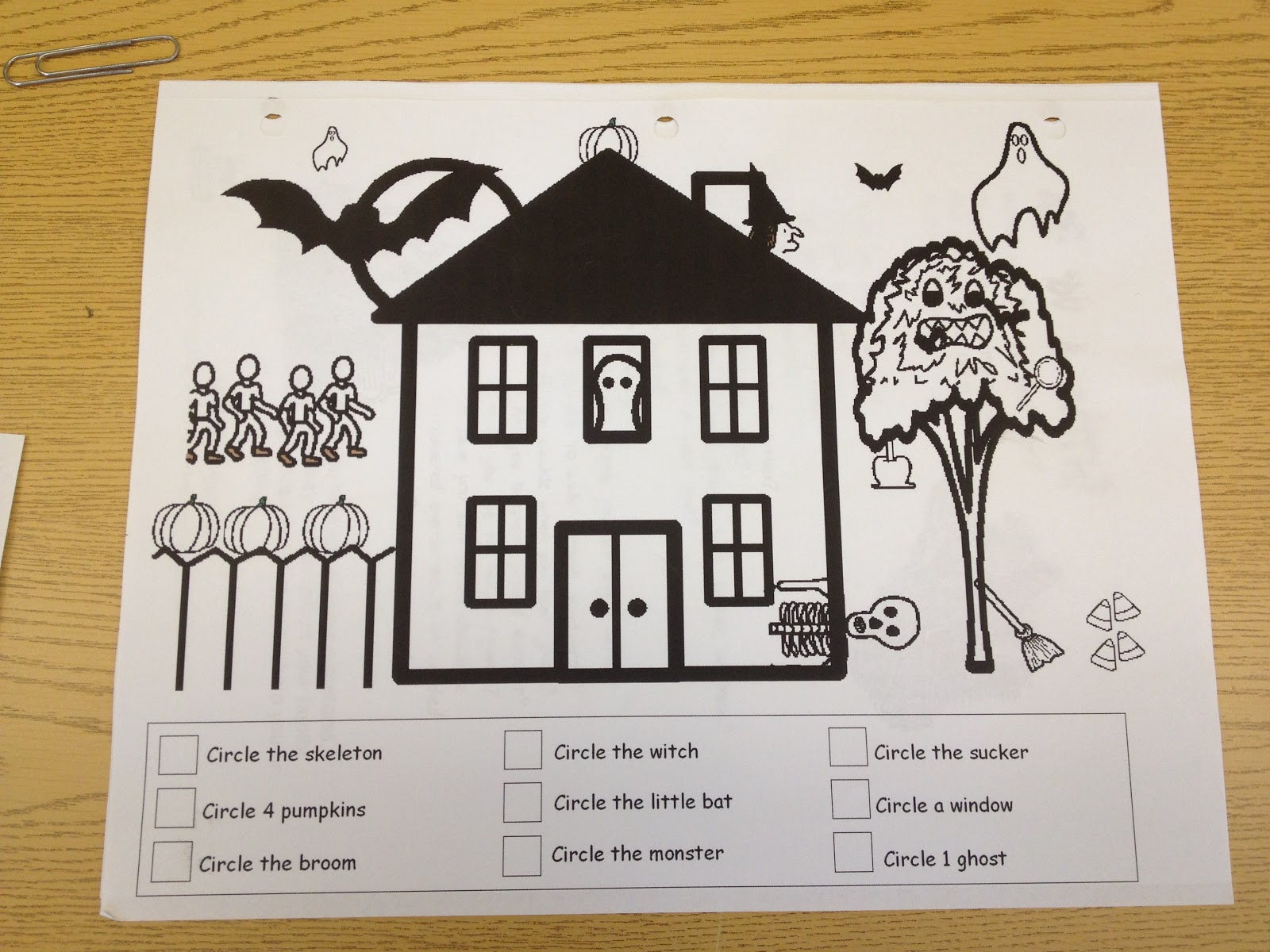 more halloween worksheets - Halloween Following Directions