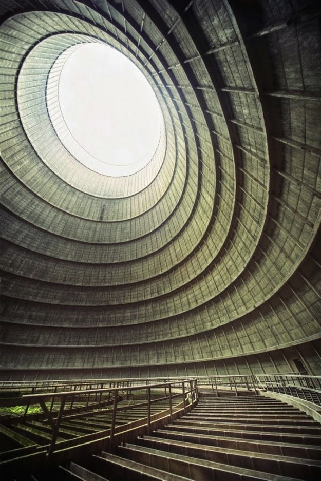Cooling tower of an abandoned power plant - 30 Abandoned Places that Look Truly Beautiful