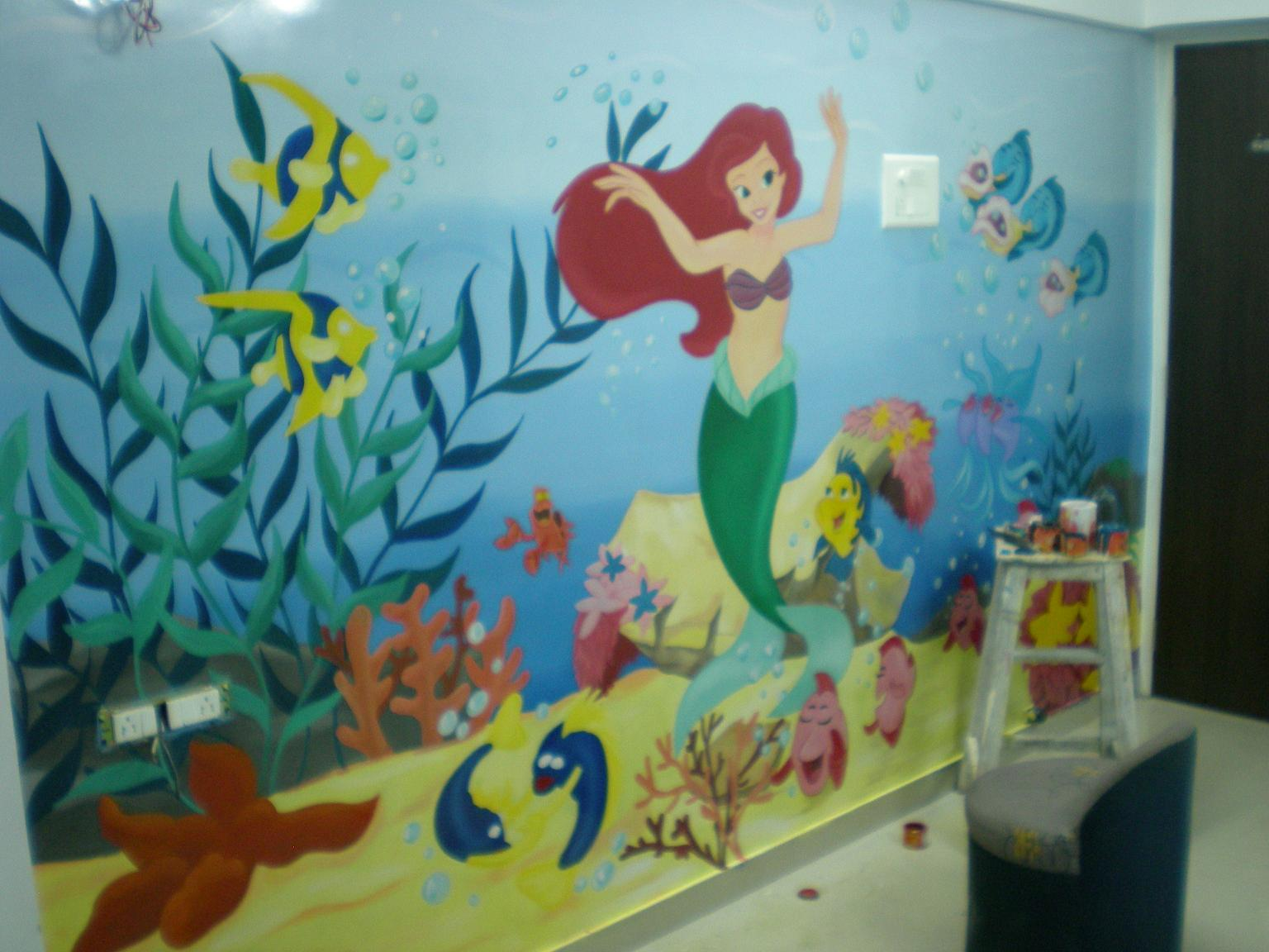 Pre school classroom painting mahim for Room design mahim