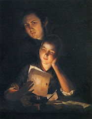 Girl Reading A Letter By Candlelight, With A Young Man Peering Over Her Shoulder, C