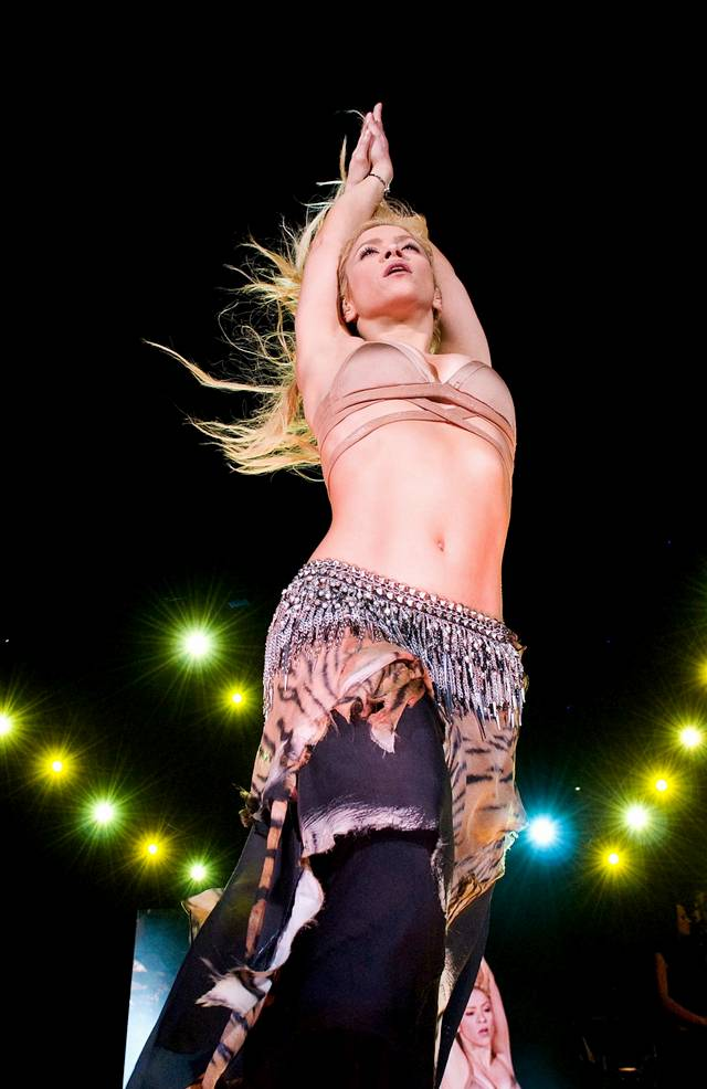 Shakira Performs at Barcelona