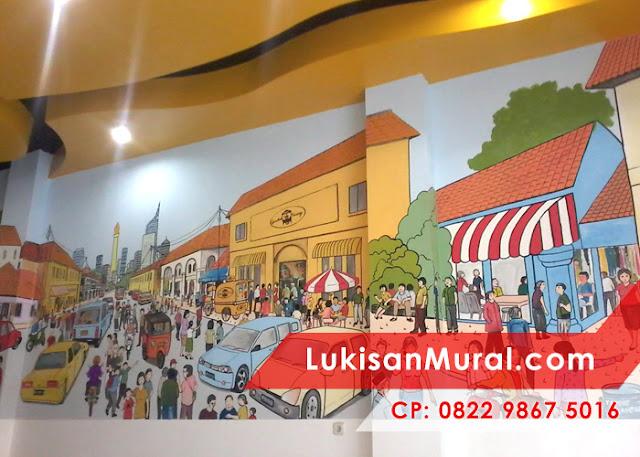 Lukisan Mural Kartun
