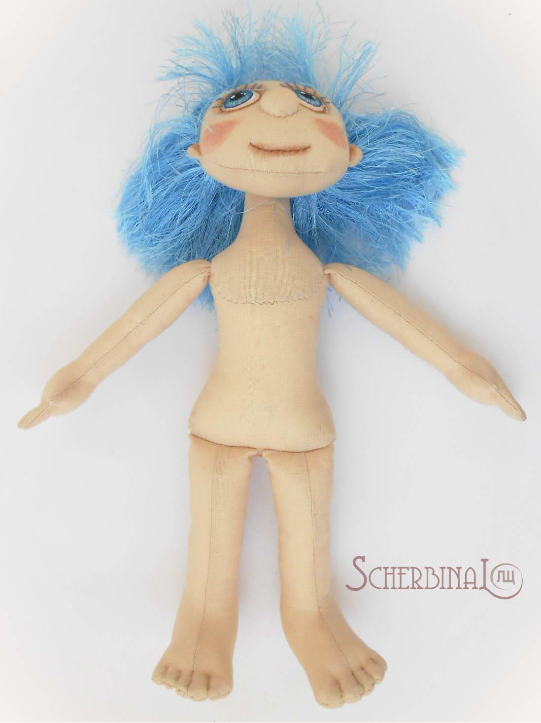 как сшить туловище для игровой текстильной куклы