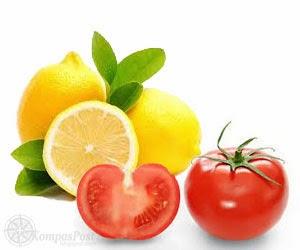 Lemon dan Tomat Untuk Menghilangkan Stretch Mark