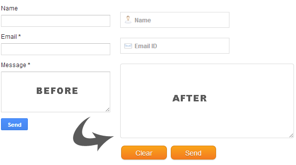 Custom Contact form widget