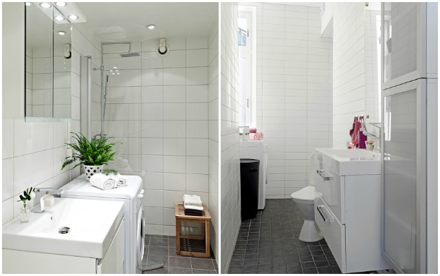 Baño Pequeno Lavadora:Cómo integrar la lavadora en el baño  La Garbatella: blog de