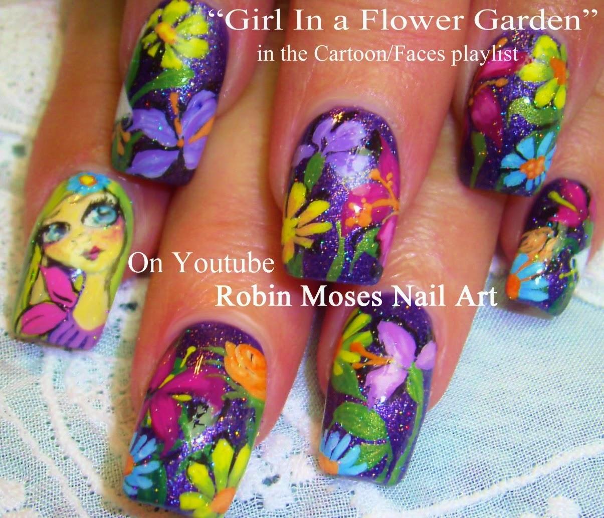 Nail Art By Robin Moses Fairy Nails Garden Nails Northern