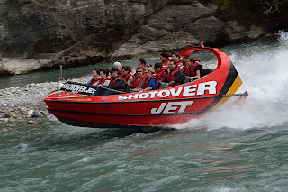 Shotover jet boat in Queenstown, New Zealand