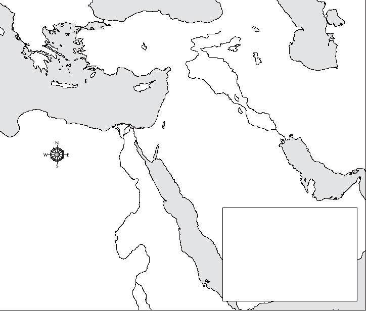 Middle East Outline Map EnchantedLearningcomMiddle East Outline - Blank us map no borders