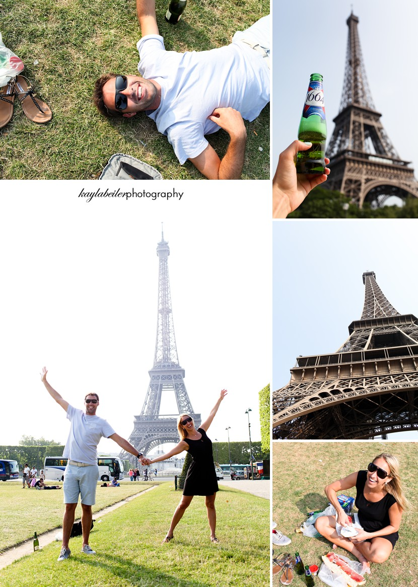 picnic under the eiffel tower photo
