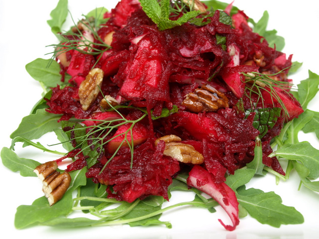 ... : Apple, Beet & Fennel Salad with Balsamic Maple Dijon Vinaigrette
