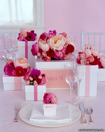 Colorful Multitasking Flower Centerpieces from Martha Stewart Weddings
