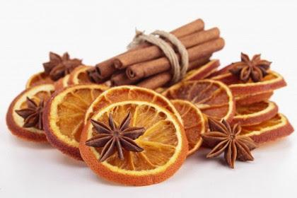 cannella e scorze d'arancia