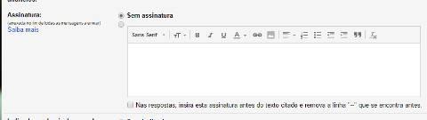 Como colocar assinatura no Gmail