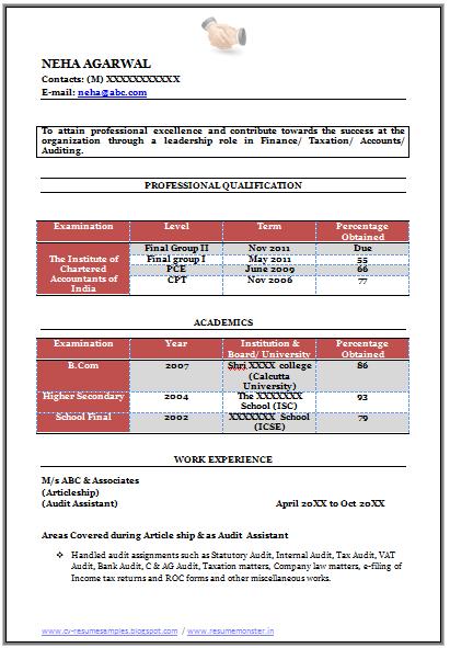 free accountant resume
