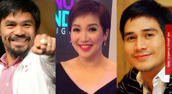 Pacman, Piolo Pascual, John Lloyd Cruz,and Kris Aquino are top celebrity taxpayers fro 2013