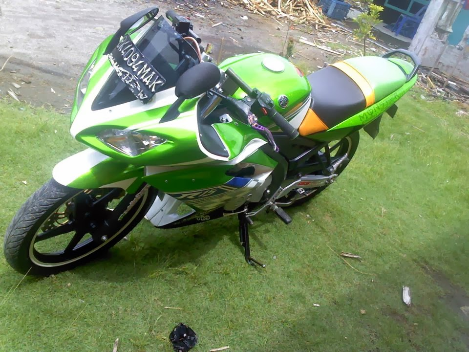 full fairing modifikasi yamaha vixion warna hijau full fairing title=