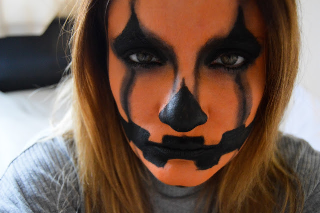 Scary Pumpkin Halloween Make-up