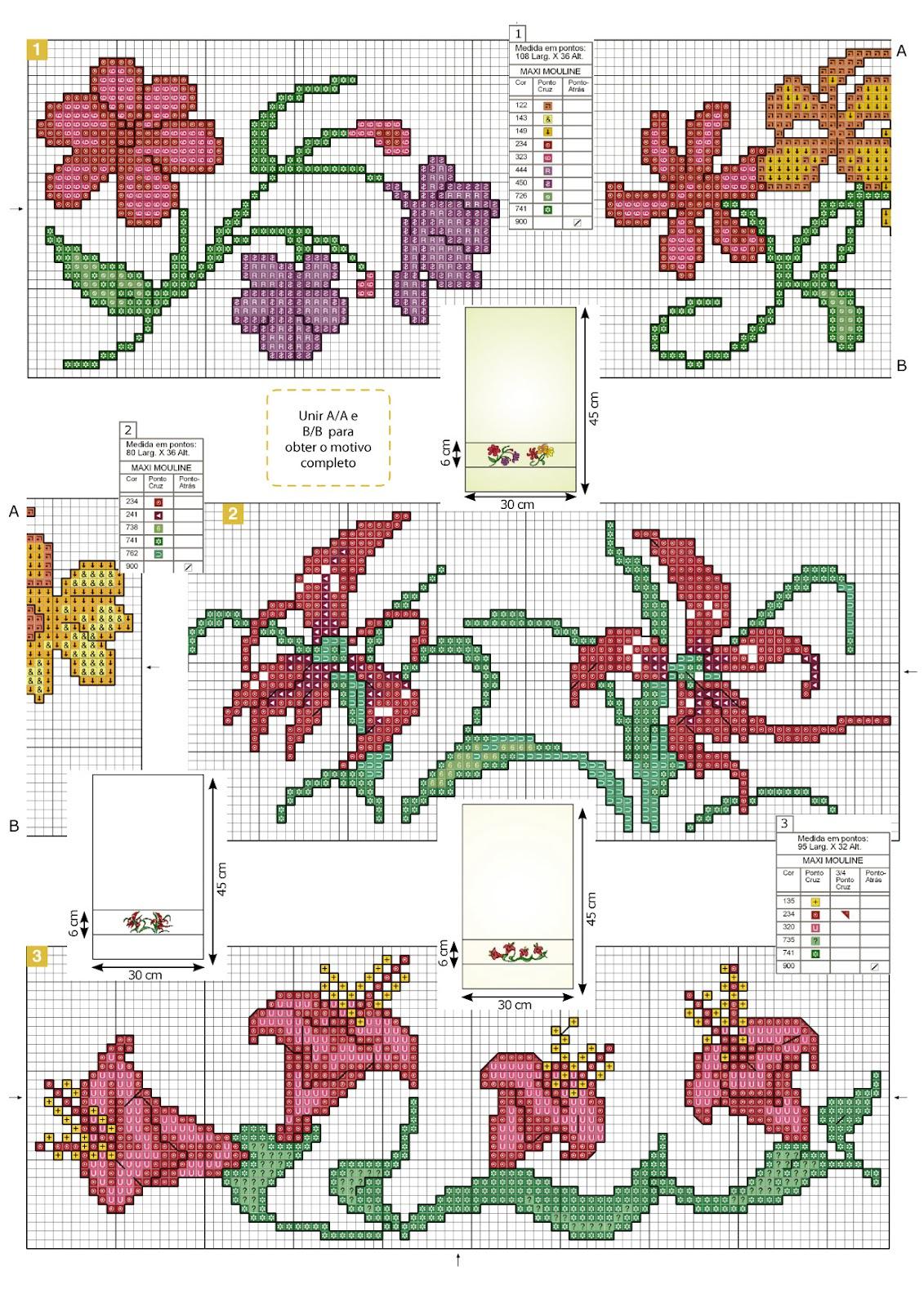 Схемы вышивок крестом на полотенце 179