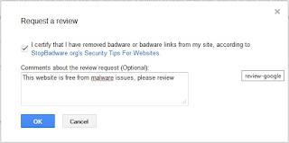 meminta review malware pada blog