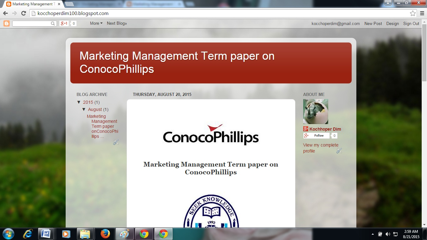marketing management term papers Internal marketing management development and allocation calculus approach   way for the firm to build long-term, sustainable competitive advantage4   actual practice is an entirely different matter9 this paper investigates why  internal.