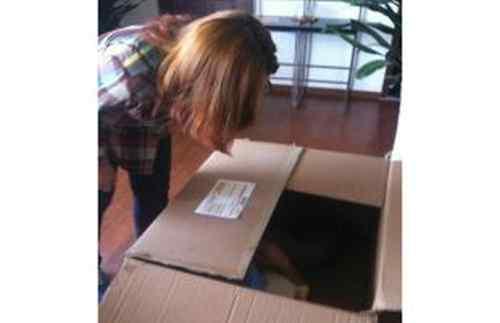 Pria Sembunyi Dalam Kotak Hingga Membuatnya Pingsan