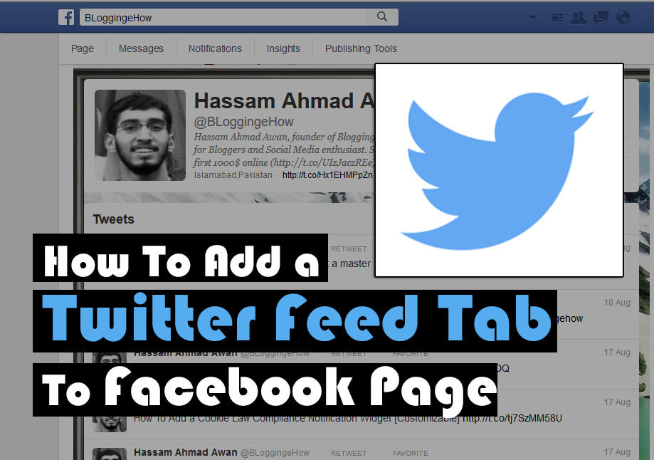 How To Add a Twitter Feed Tab To Facebook Page