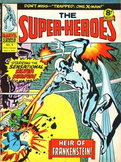 Marvel UK, The Super-Heroes #9, Silver Surfer vs Frankenstein