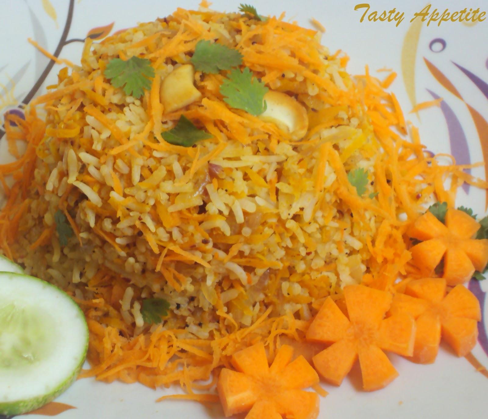 Healthy Carrot Rice Amp An Award