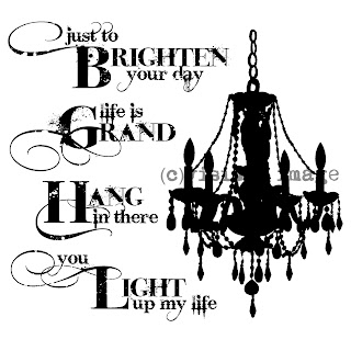 Visible Image stamps chandelier stamp sentiment stamps