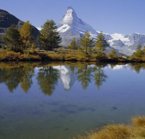 Gunung Matterhorn di Swiss
