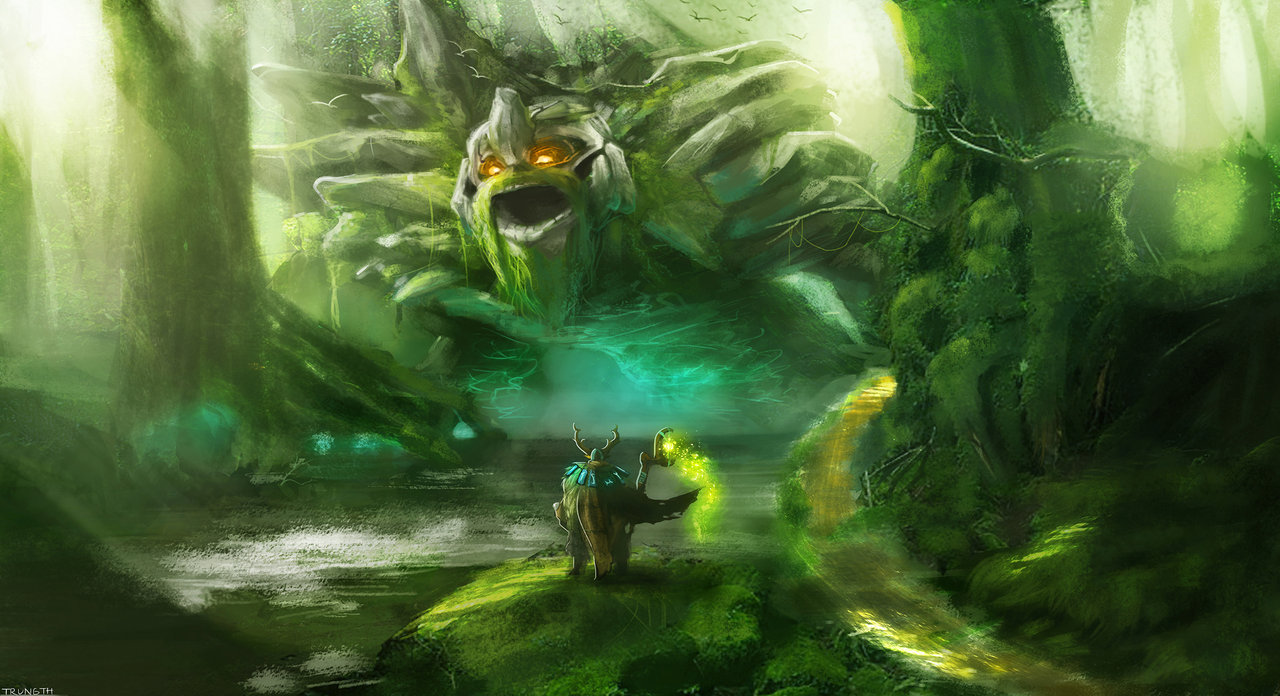 Dota 2 Wallpapers: Dota 2 Fan-Art nature's Prophet and Tiny