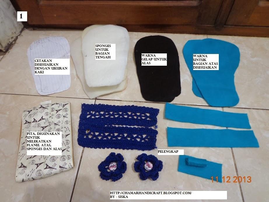 crafting product: TUTORIAL MEMBUAT SANDAL RAJUT (SANDAL RUMAH)
