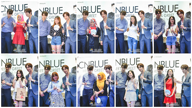 Top 10 Lucky fans who got to take individual group photo with CNBLUE members. All thanks to The Class Malaysia