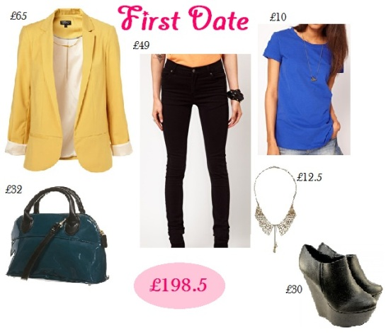 First date, colorblock