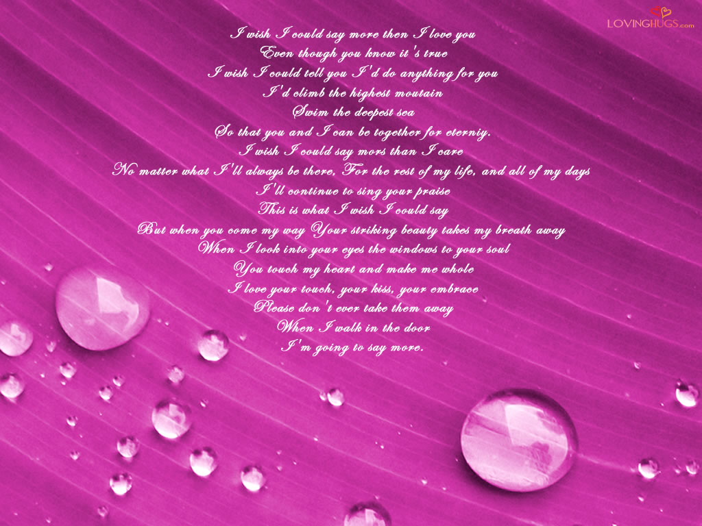 Love Wallpaper Poetry : I love you poem wallpaper, i love you wallpapers Free ...