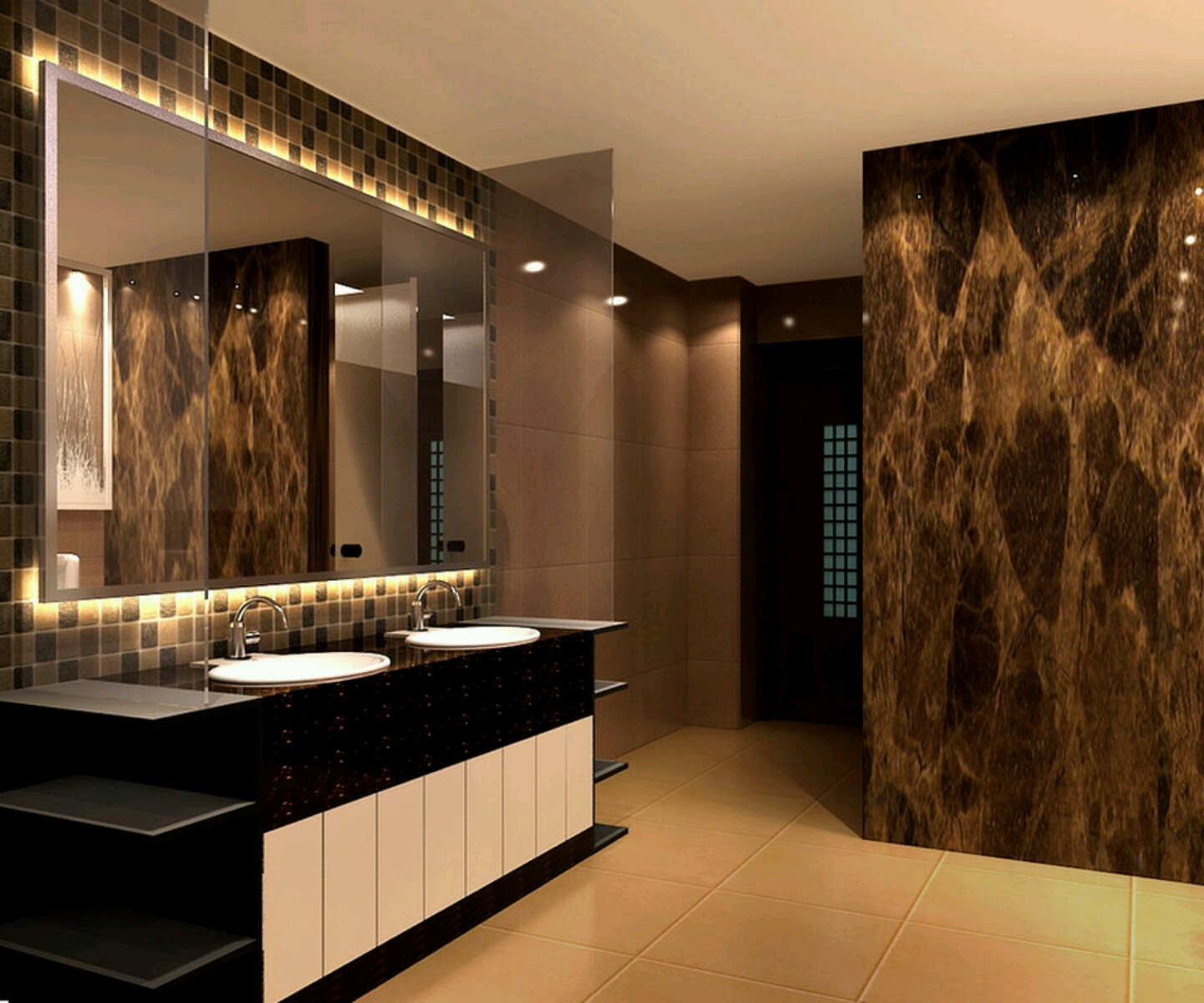 New home designs latest modern homes modern bathrooms for Bathrooms designs