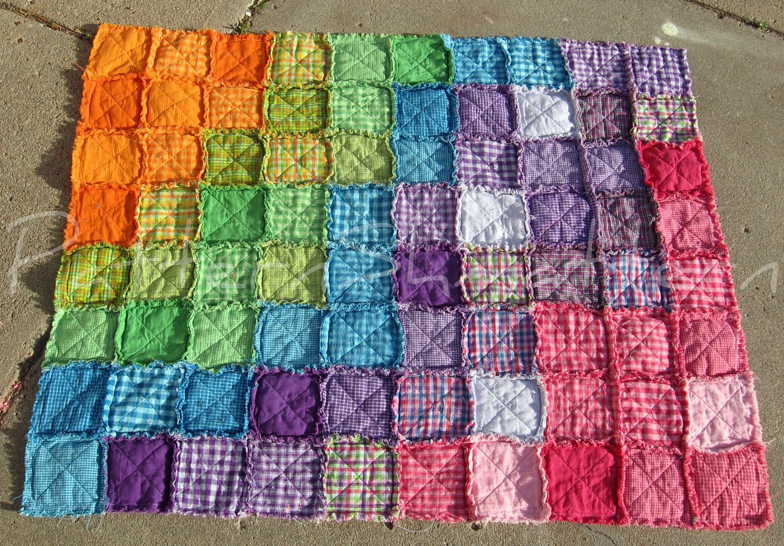 Tumbling Blocks Raggy Quilt - Free Patterns - Download Free Patterns