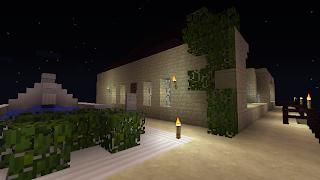 minecraft home upside garden