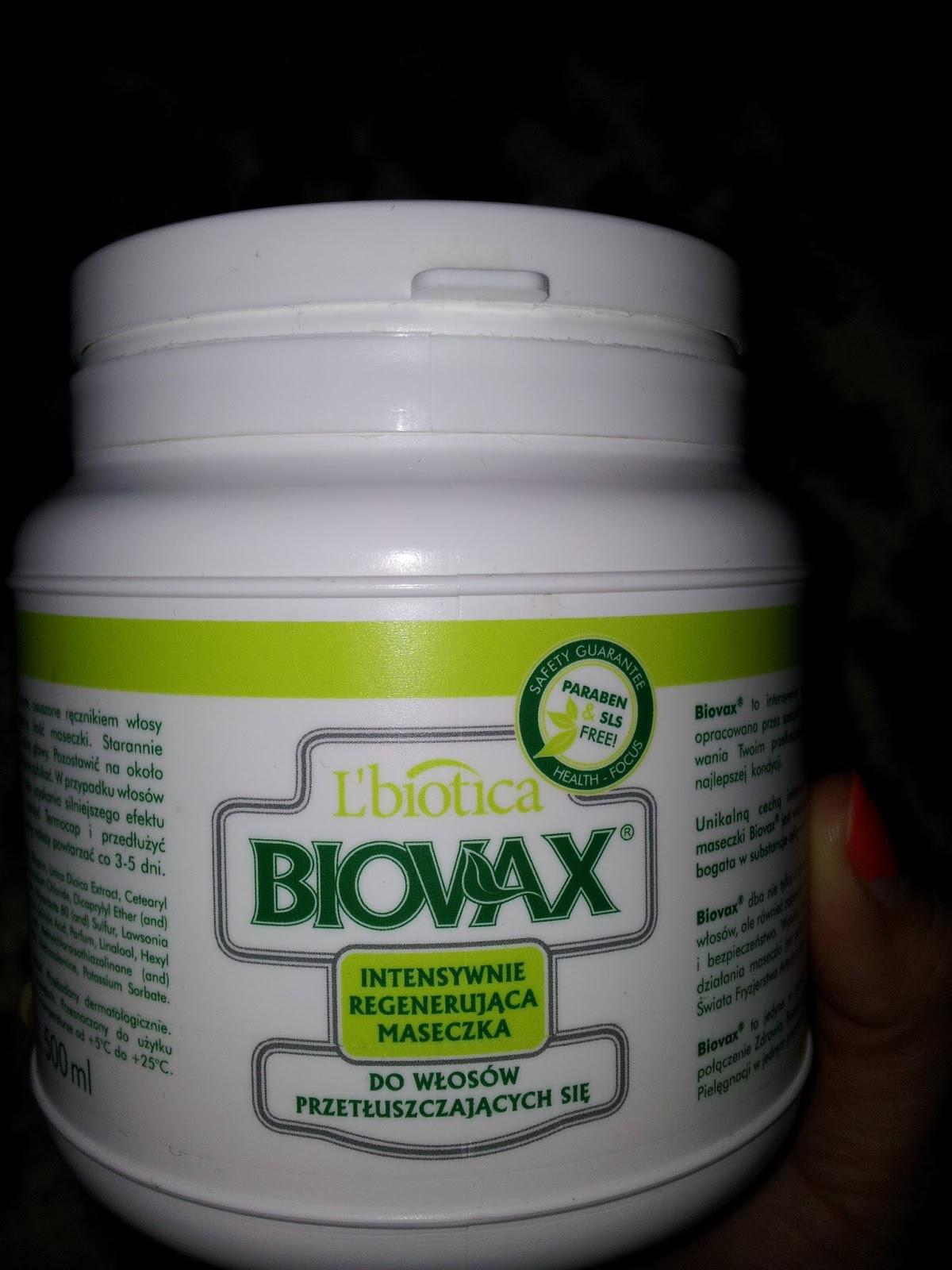 L'biotica BIOVAX Intensywnie regenerująca maseczka do włosów przetłuszczających się